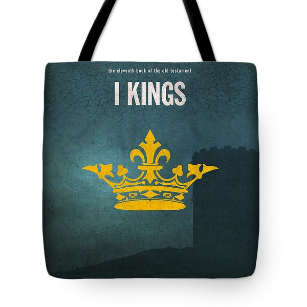 First Kings Books Of The Bible Series Old Testament Minimal Poster Art Number 11 Tote Bag by Design Turnpike
