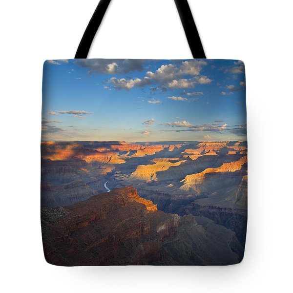 First Light On The Colorado Tote Bag by Mike  Dawson
