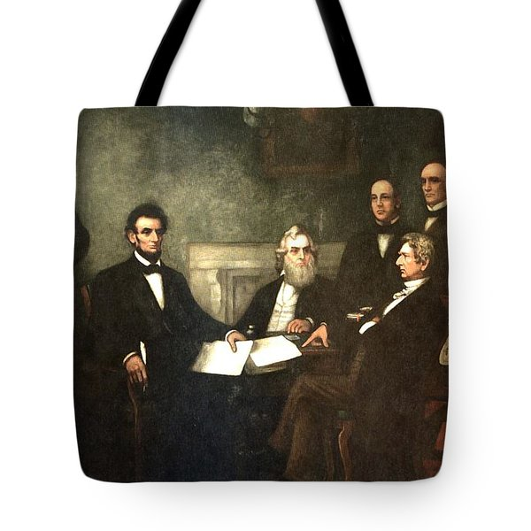 First Reading of the Emancipation Proclamation of President Lincoln Tote Bag by Nomad Art And  Design