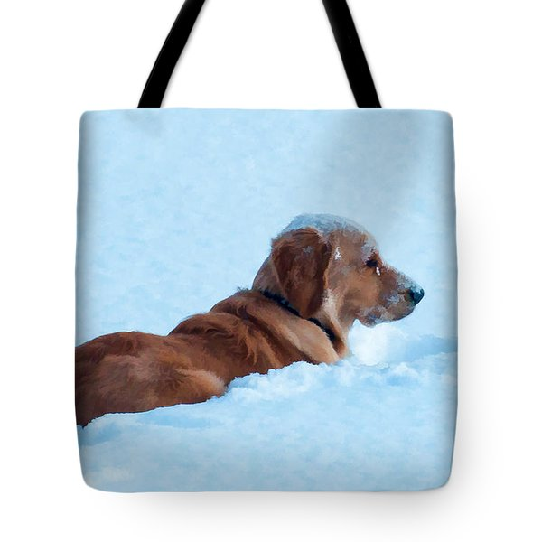 First Snow Bliss Tote Bag by Bianca Nadeau