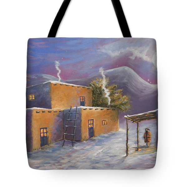 First Snow Tote Bag by Jerry McElroy