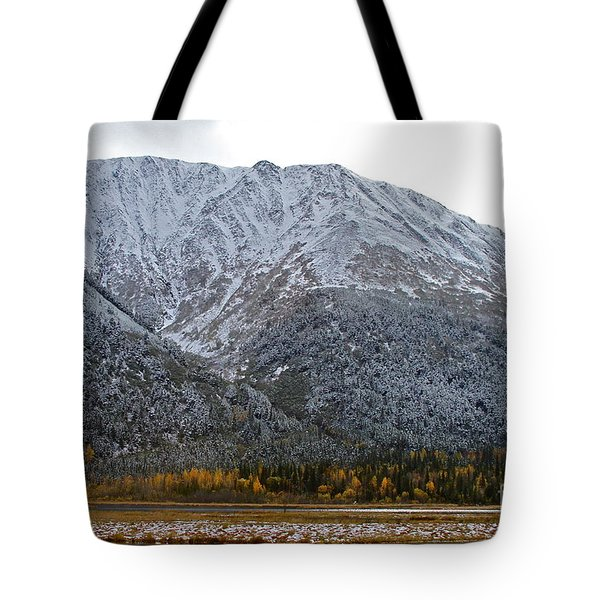 First Snow Tote Bag by Rick  Monyahan