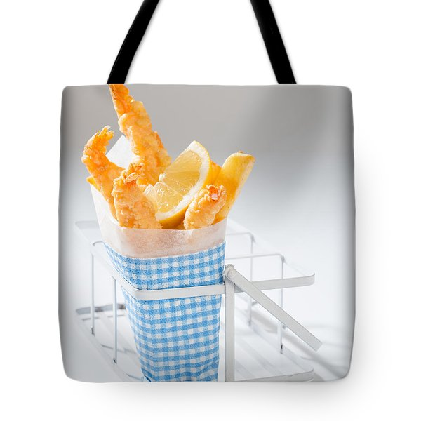 Fish And Chips Tote Bag by Amanda Elwell