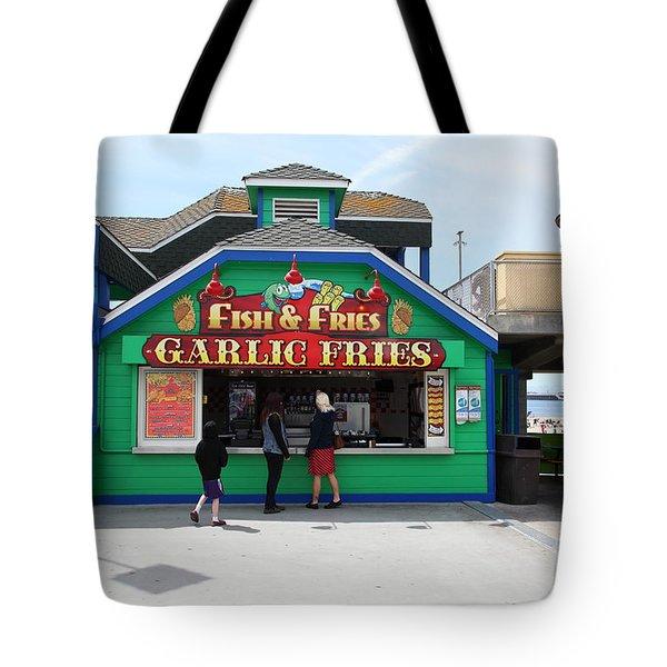 Fish And Fries At The Santa Cruz Beach Boardwalk California 5D23687 Tote Bag by Wingsdomain Art and Photography