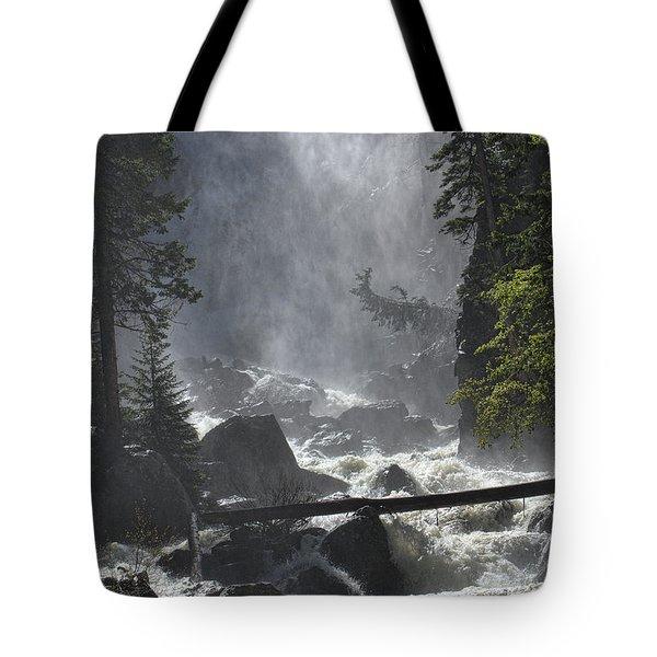 Fish Creek Mist Tote Bag by Don Schwartz