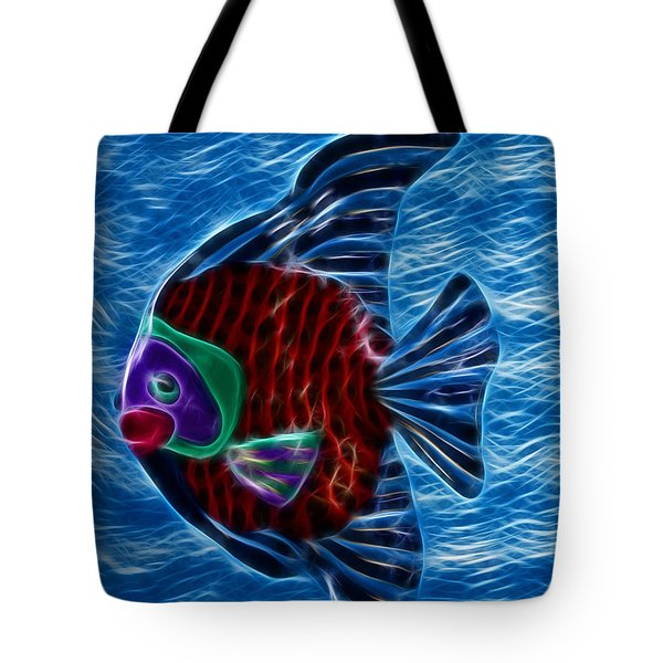 Fish In Water Tote Bag by Shane Bechler