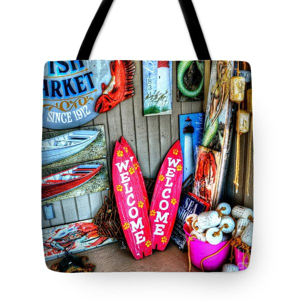 Fish Market Tote Bag by Debbi Granruth