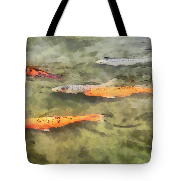 Fish - School of Koi Tote Bag by Susan Savad