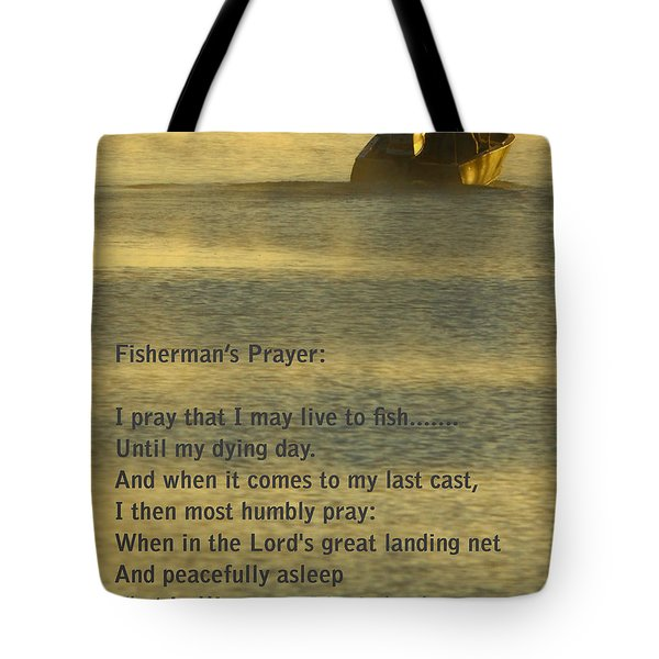 Fisherman's Prayer Tote Bag by Robert Frederick