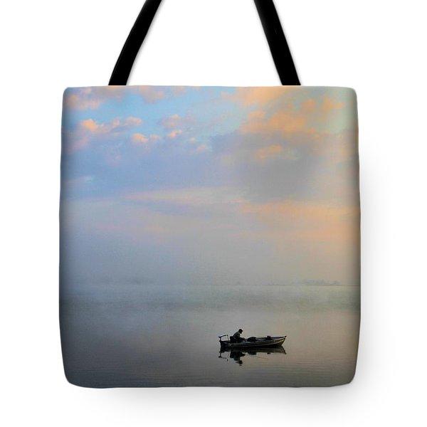 Fisherman's Solitude In Ohio Tote Bag by Dan Sproul