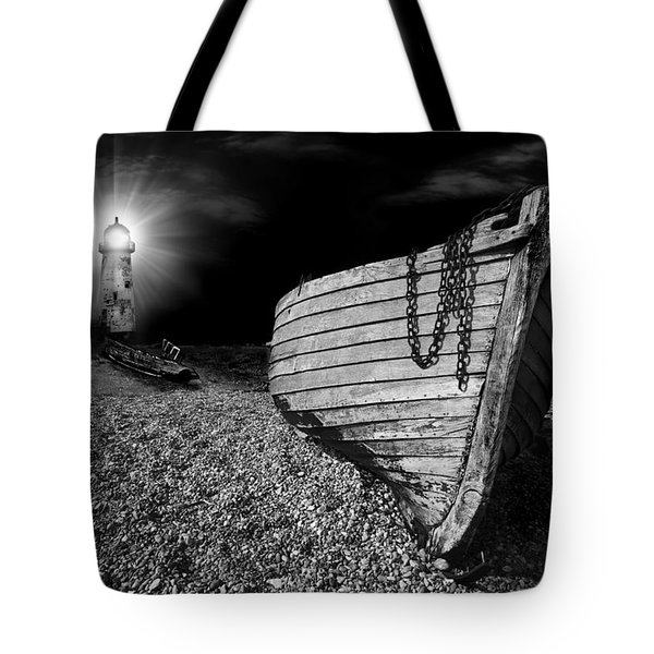 Fishing Boat Graveyard 5 Tote Bag by Meirion Matthias