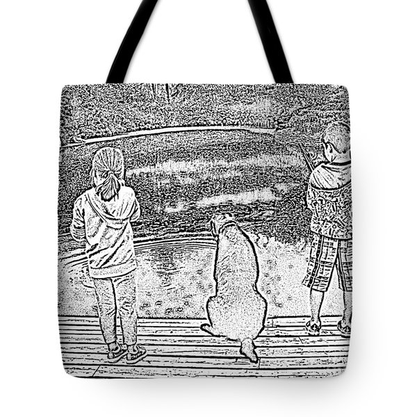 Fishing Buddies Tote Bag by Barbara Griffin