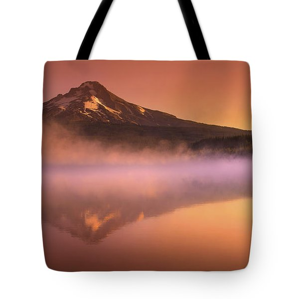 Fishing in the Fog Tote Bag by Lori Grimmett