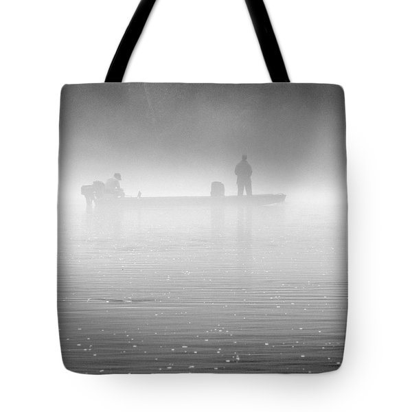 Fishing in the Fog Tote Bag by Mike McGlothlen