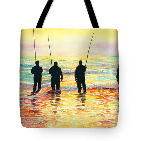 Fishing Line Tote Bag by Marguerite Chadwick-Juner