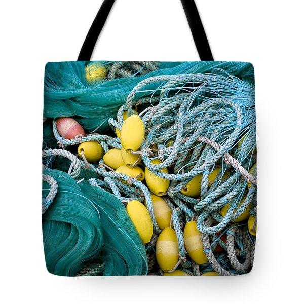 Fishing Nets Tote Bag by Frank Tschakert