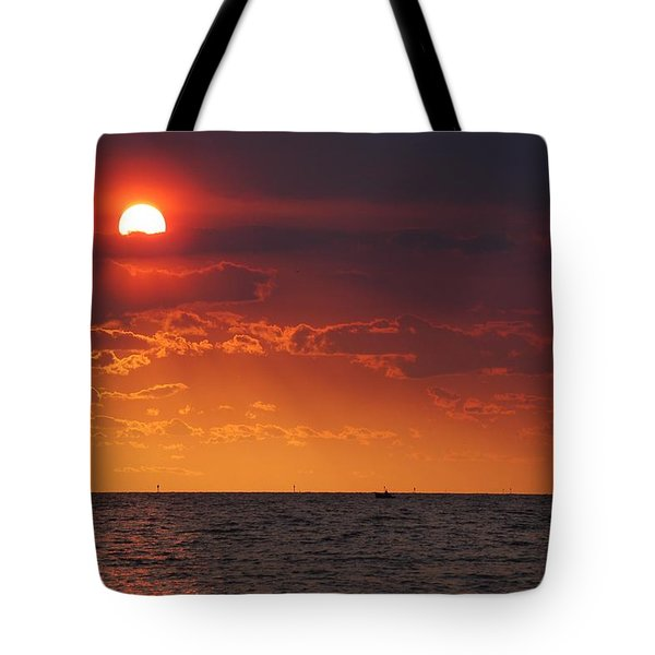 Fishing Till The Sun Goes Down Tote Bag by Michael Thomas
