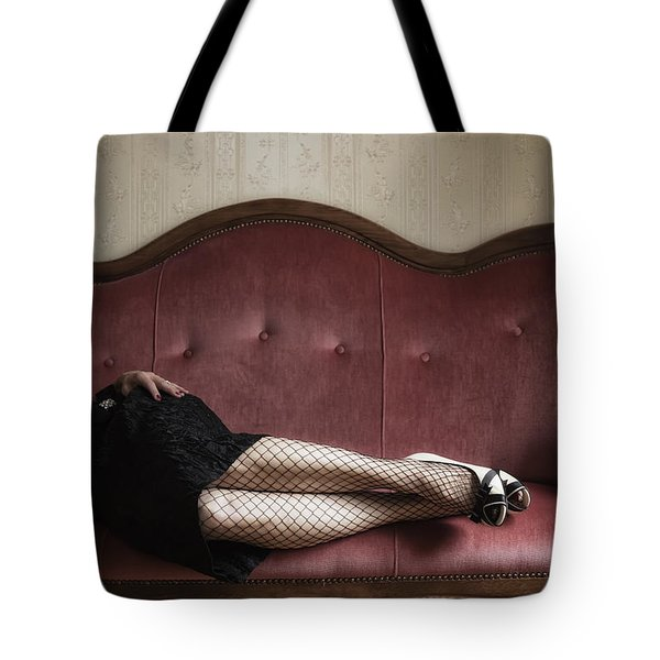 Fishnet Tights Tote Bag by Joana Kruse