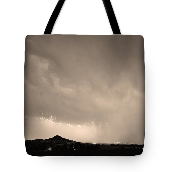 Fist Bump of Power Sepia Tote Bag by James BO  Insogna