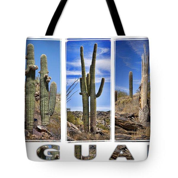 Five Saguaros Tote Bag by Kelley King