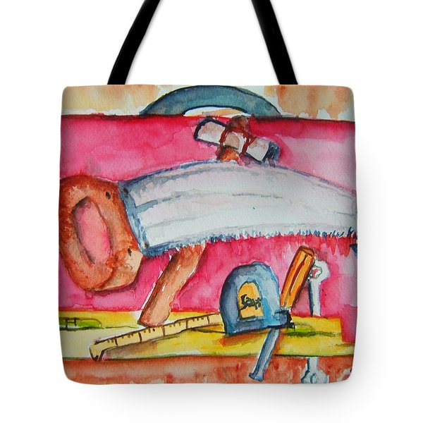 Fix And Finish It Tote Bag by Elaine Duras