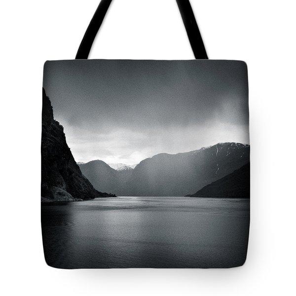 Fjord Rain Tote Bag by Dave Bowman