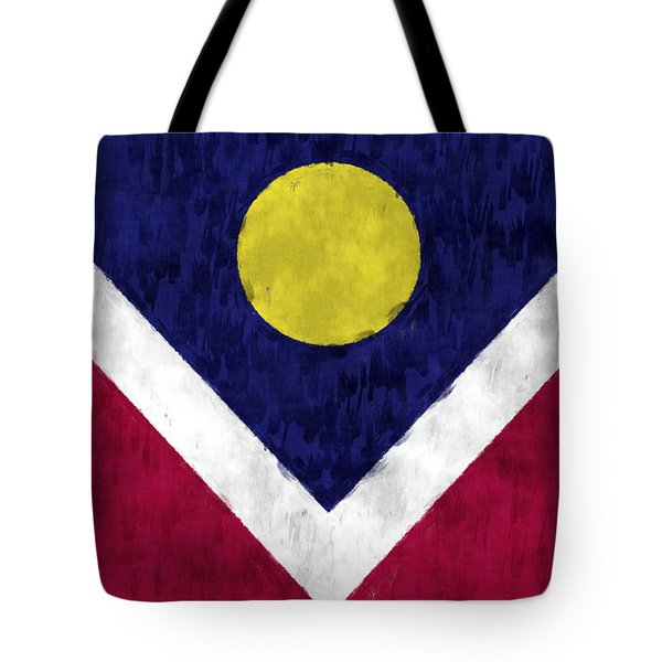 Flag Of Denver Tote Bag by World Art Prints And Designs