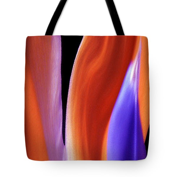 Flame - Bird Of Paradise   Tote Bag by Ben and Raisa Gertsberg