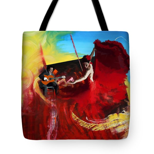 Flamenco Dancer 016 Tote Bag by Catf