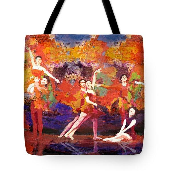 Flamenco Dancer 022 Tote Bag by Catf