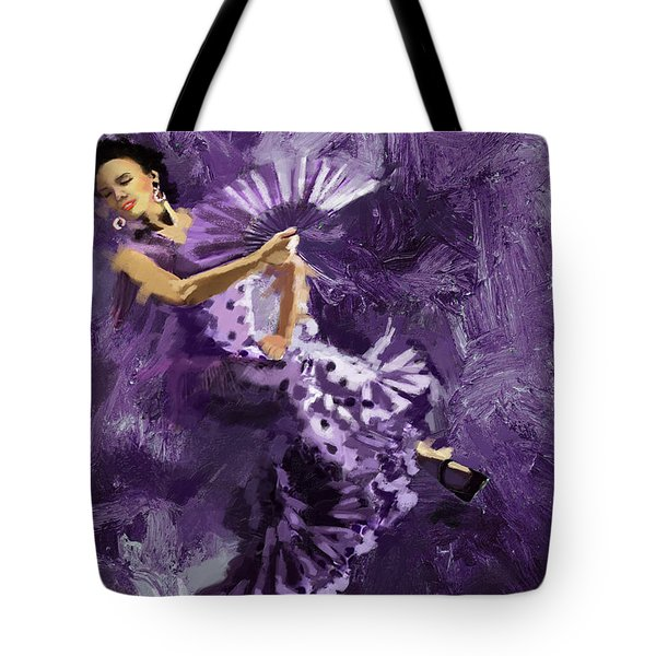 Flamenco Dancer 023 Tote Bag by Catf