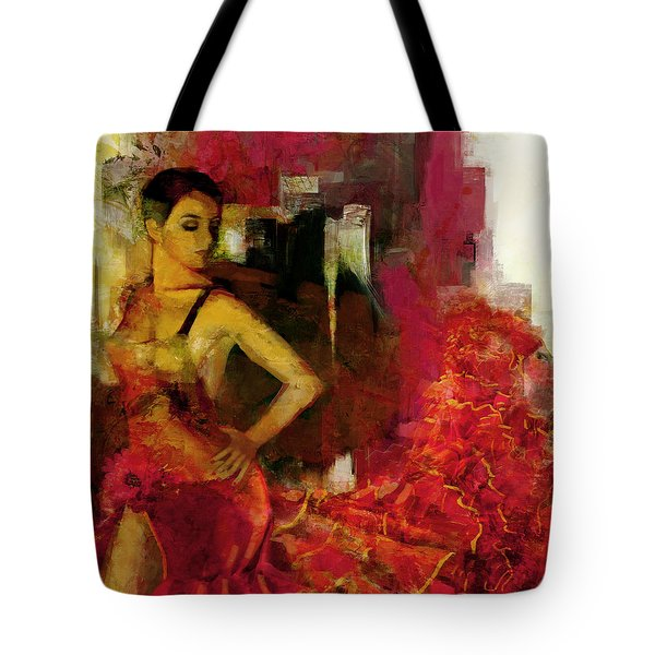 Flamenco Dancer 024 Tote Bag by Catf
