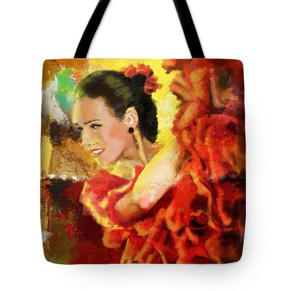 Flamenco Dancer 027 Tote Bag by Catf