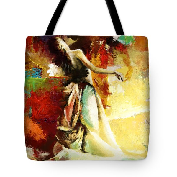 Flamenco Dancer 032 Tote Bag by Catf