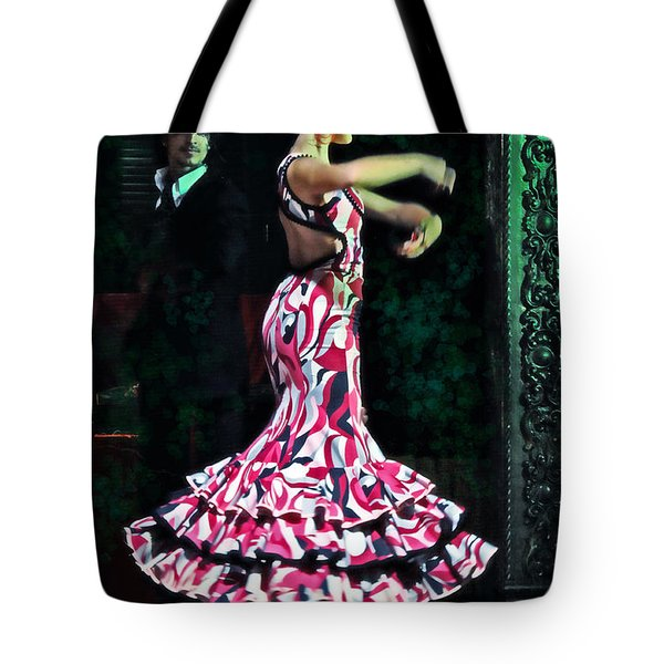 Flamenco Series No. 10 Tote Bag by Mary Machare