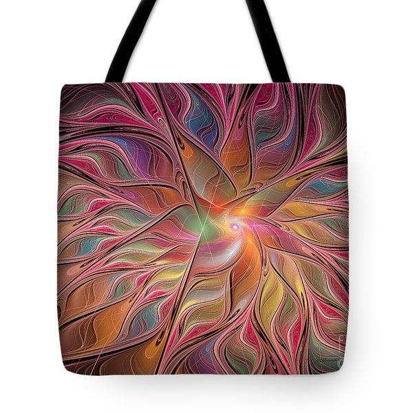 Flames of Happiness Tote Bag by Deborah Benoit