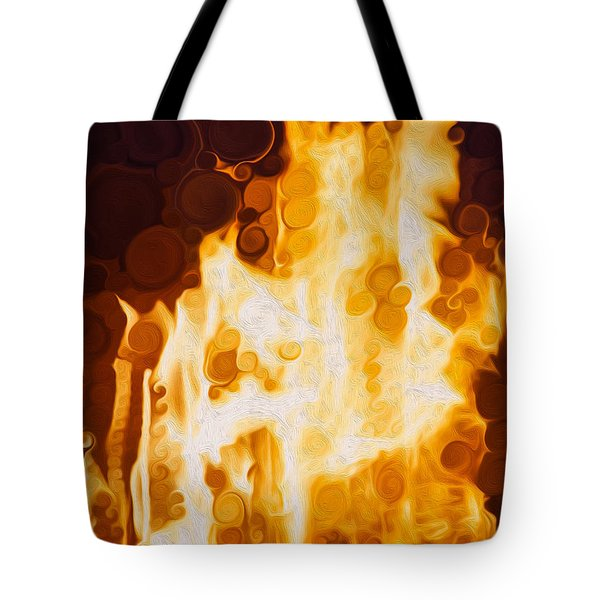 Flaming Waters Tote Bag by Omaste Witkowski