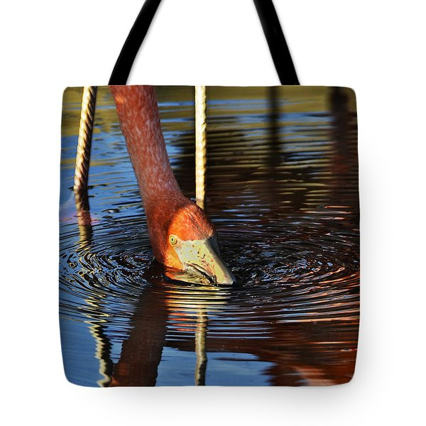 Flamingo Close Up Tote Bag by Dave Dilli