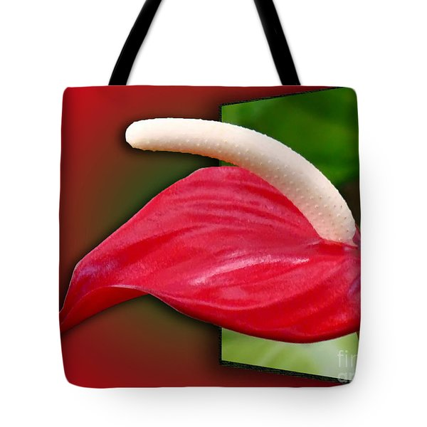Flamingo Flower Passion Tote Bag by Sue Melvin