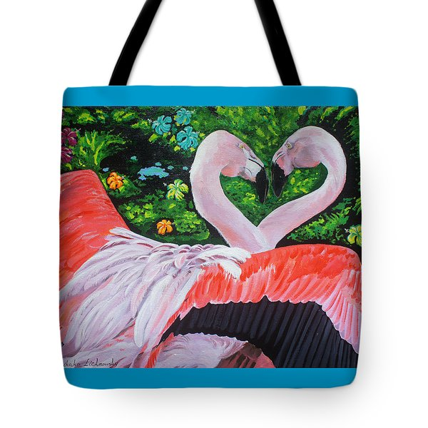Flamingo Paradise Tote Bag by Chikako Hashimoto Lichnowsky