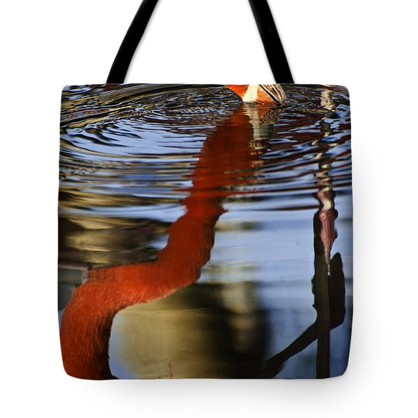 Flamino Reflections 1 Tote Bag by Dave Dilli
