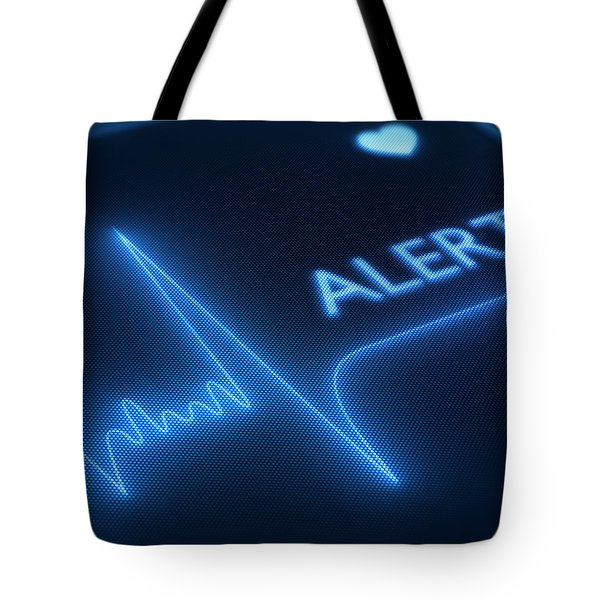 Flat line alert on heart monitor Tote Bag by Johan Swanepoel