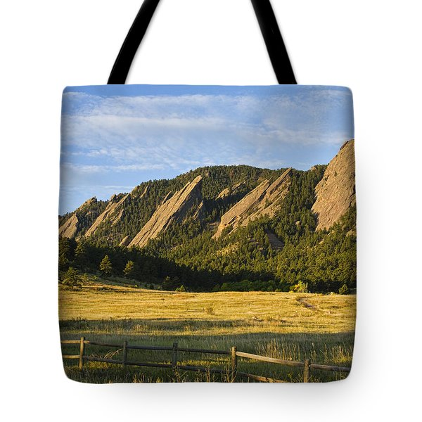 Flatirons From Chautauqua Park Tote Bag by James BO  Insogna