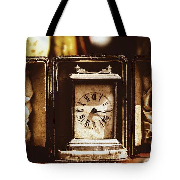 Flea Market Series - Clock Tote Bag by Marco Oliveira