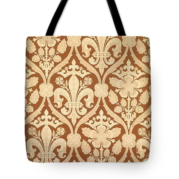 Fleur-de-Lis Tote Bag by Augustus Welby Pugin