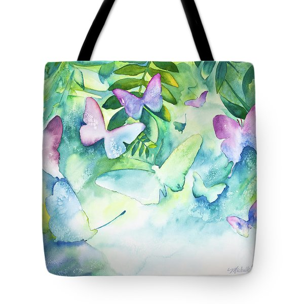 Flight Of The Butterflies Tote Bag by Michelle Wiarda