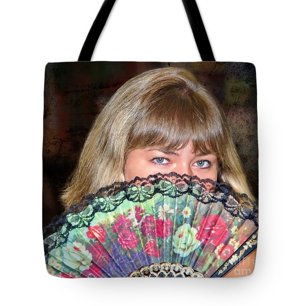 Flirting With The Fan Tote Bag by Mariola Bitner
