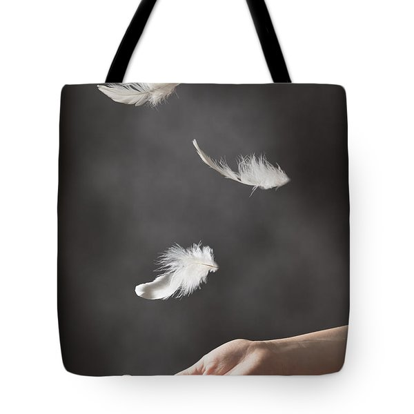 Floating Feathers Tote Bag by Amanda Elwell