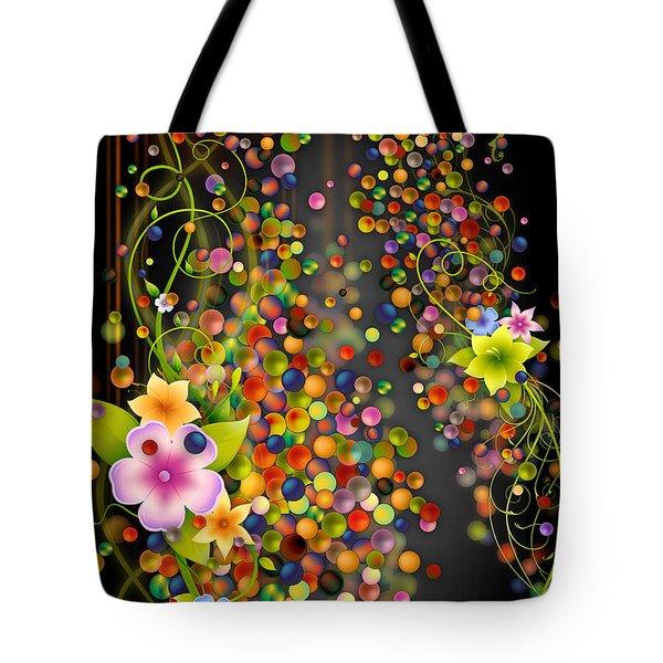 Floating Fragrances - Black Version Tote Bag by Bedros Awak