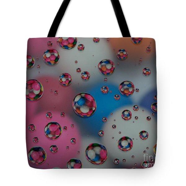 Floating Gum Balls Tote Bag by Paul Ward